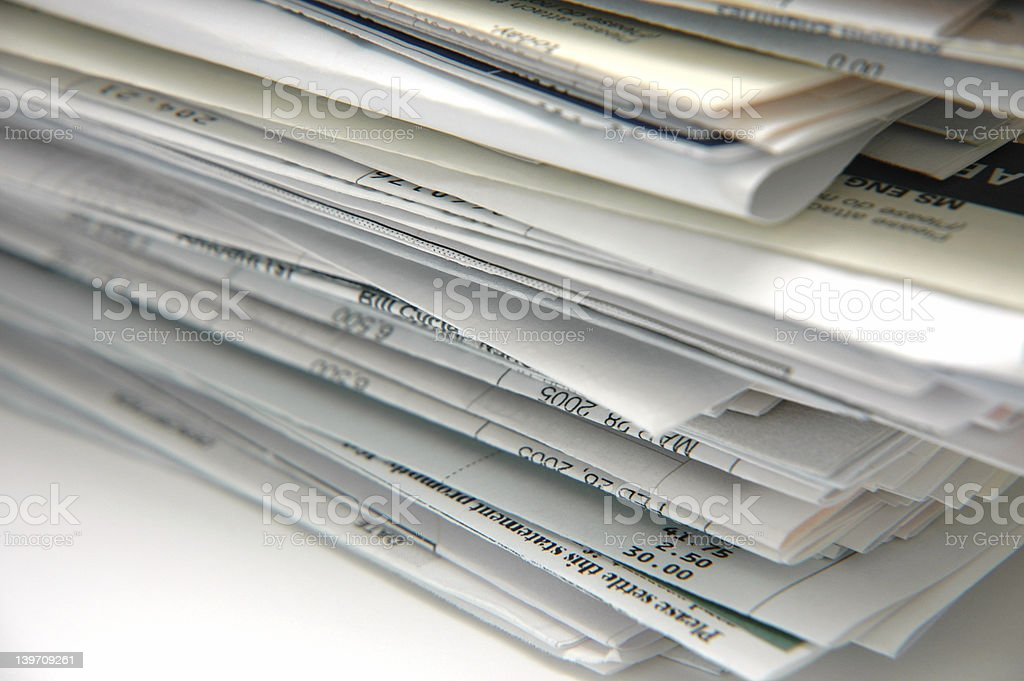 Bills and Invoices stock photo