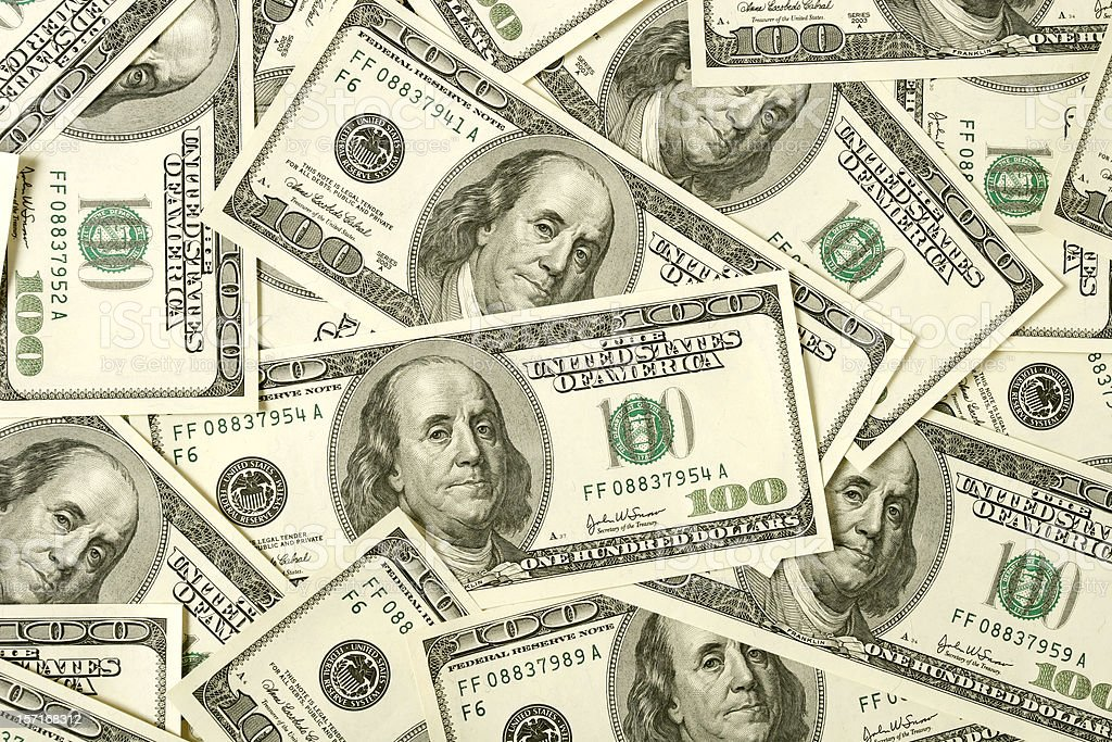 $100 bills background royalty-free stock photo