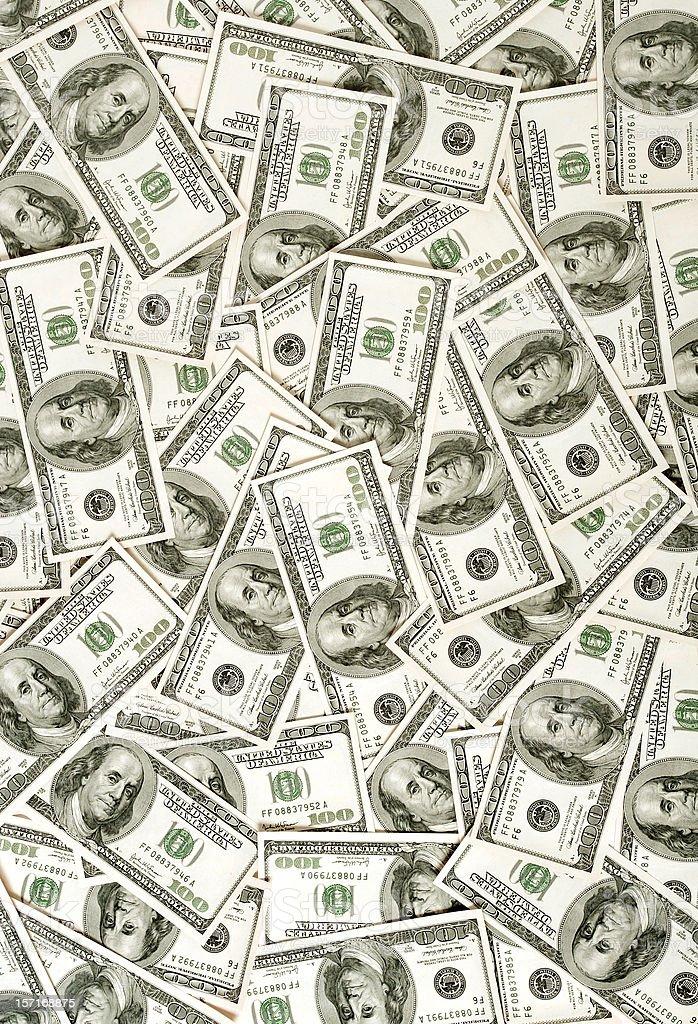$100 bills background stock photo