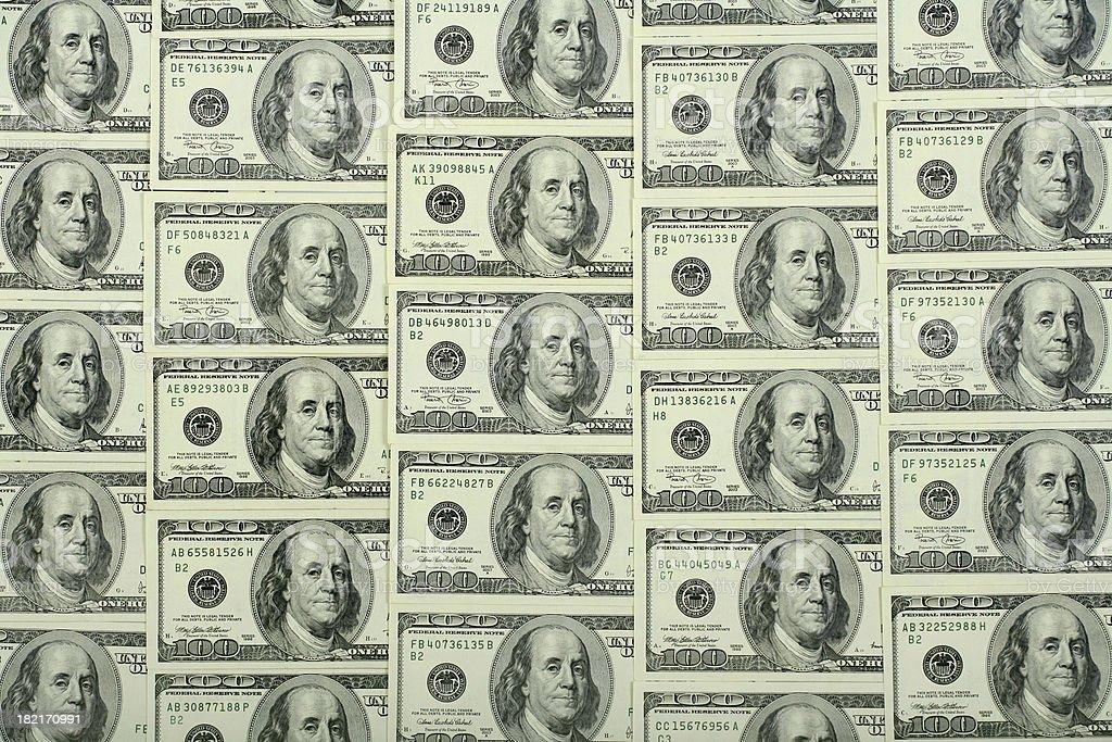 $100 bills background royalty-free stock photo