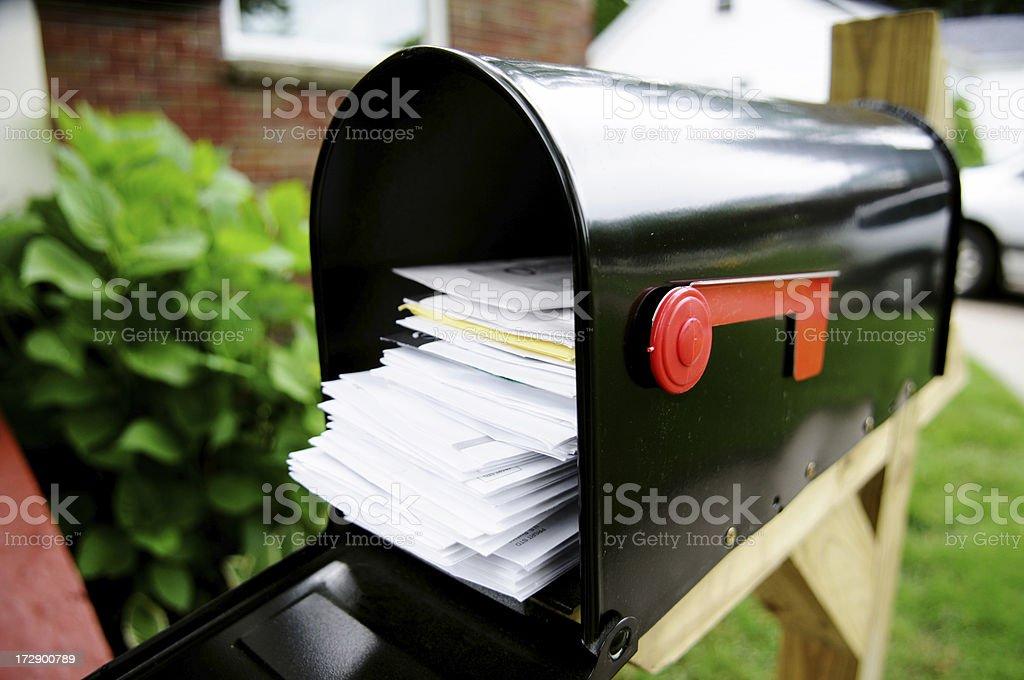 Bills & Junk Mail royalty-free stock photo