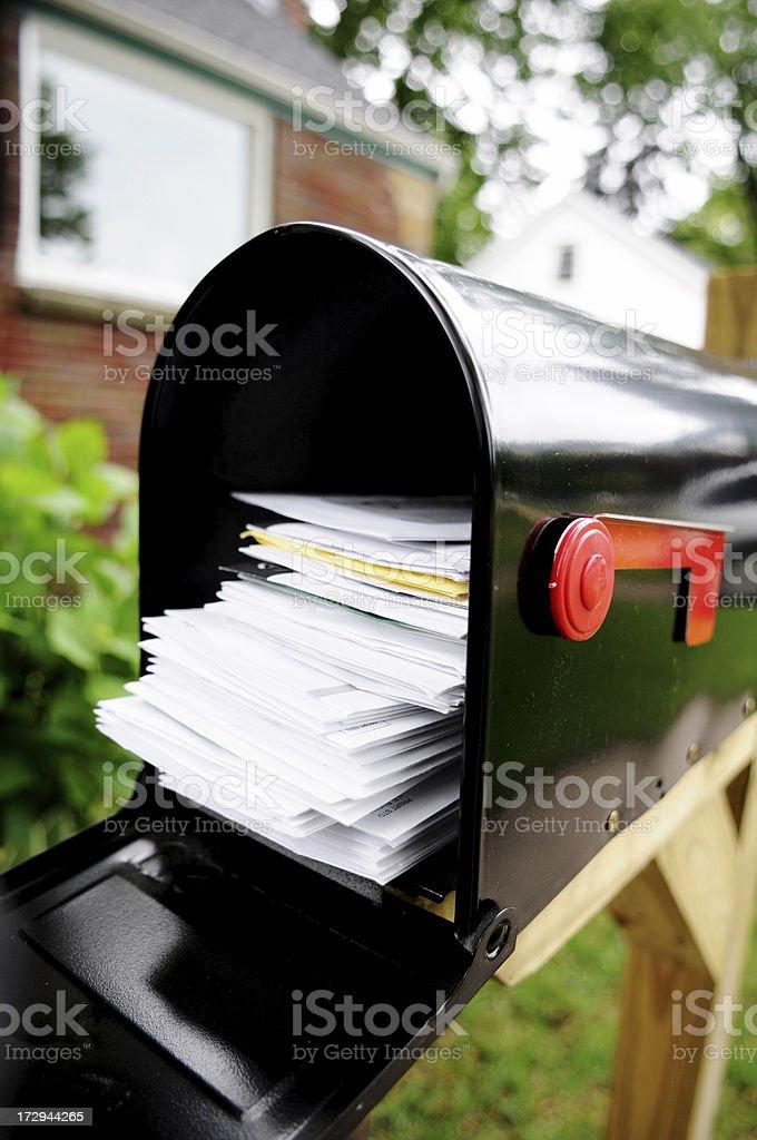 Bills & Junk Mail stock photo