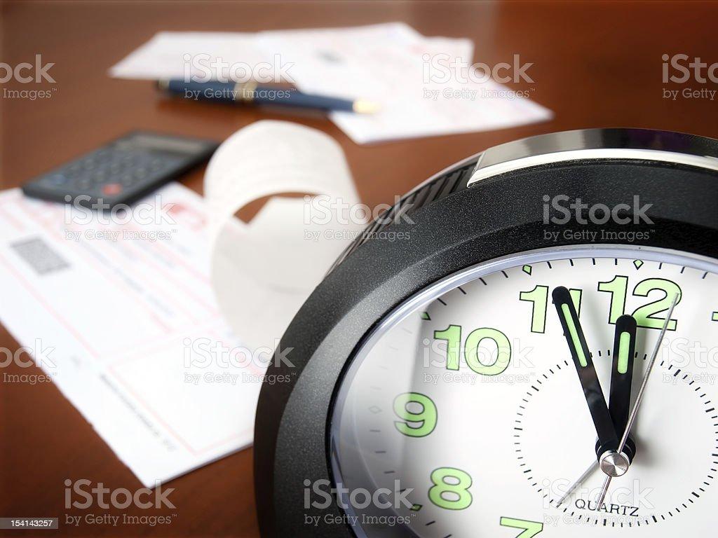 Bills paying time stock photo