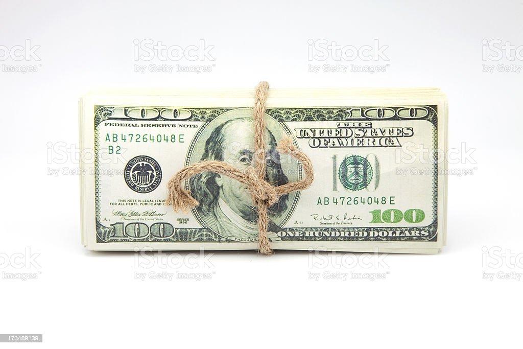 bills tied royalty-free stock photo