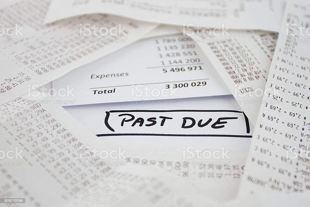 Bills to be paid stock photo