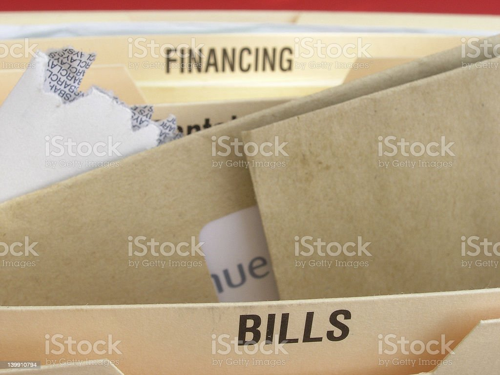 Bills to pay. stock photo