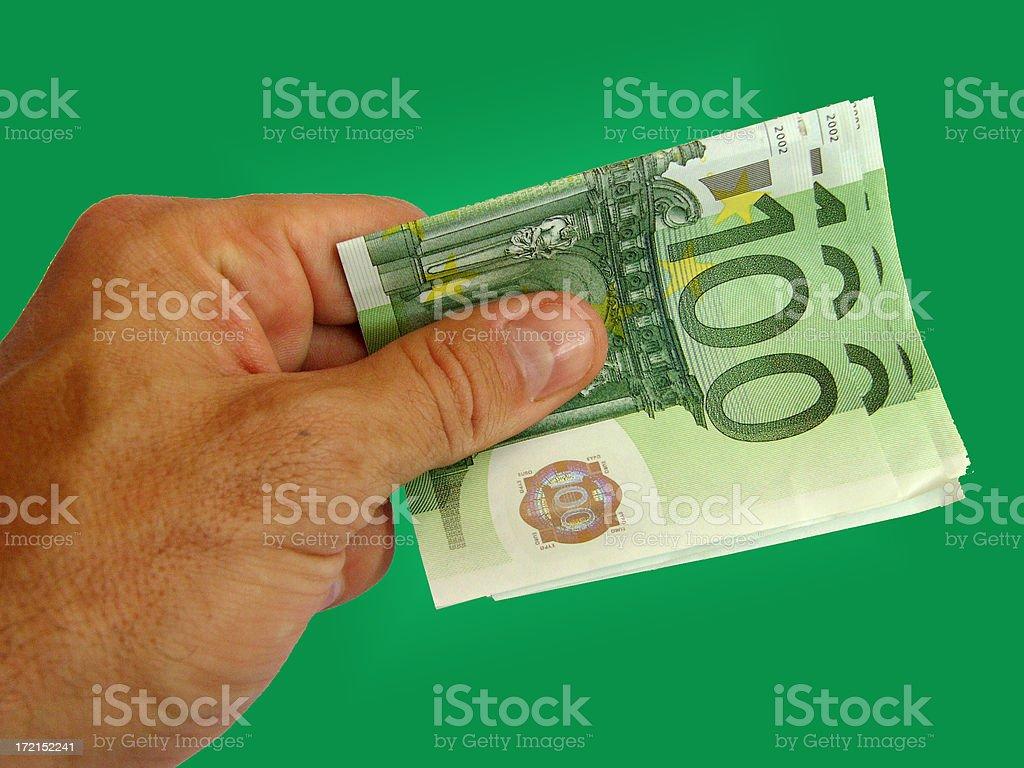 Bills.100 euros royalty-free stock photo