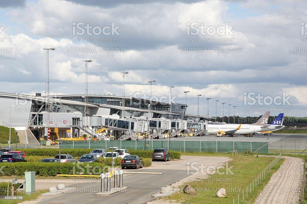 Billund airport in Denmark stock photo