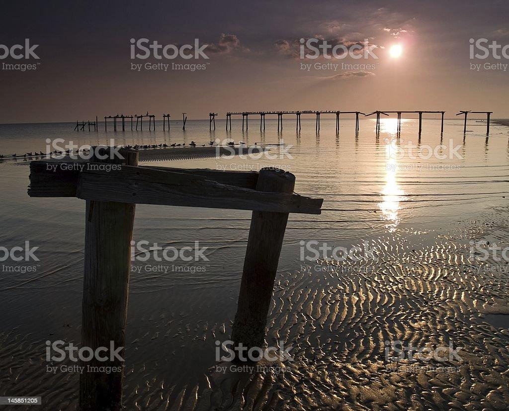 Biloxi Beach in Autumn stock photo