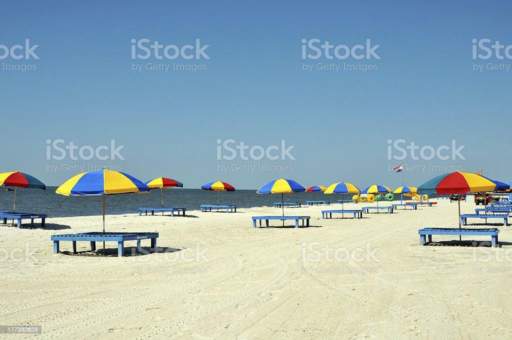 Biloxi Beach stock photo