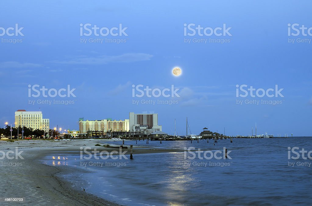 Biloxi, Mississippi, casinos and buildings stock photo