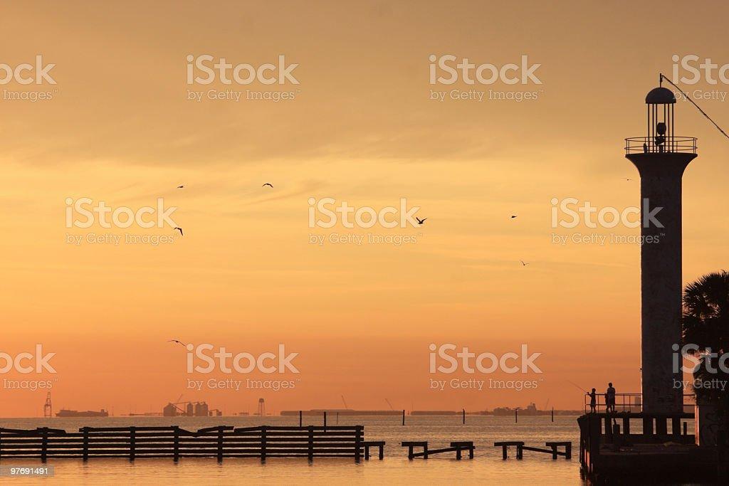 Biloxi Mississippi Sunset stock photo