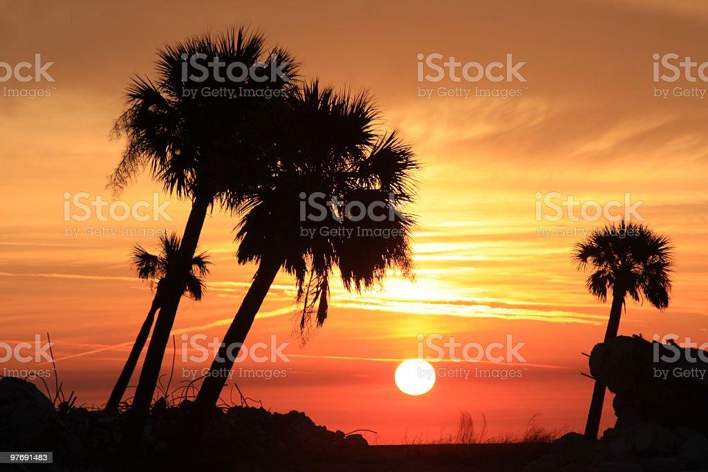 Biloxi Sunset stock photo
