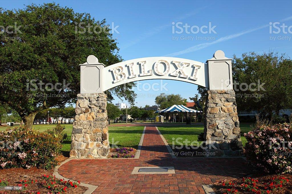 Biloxi Welcome Sign stock photo