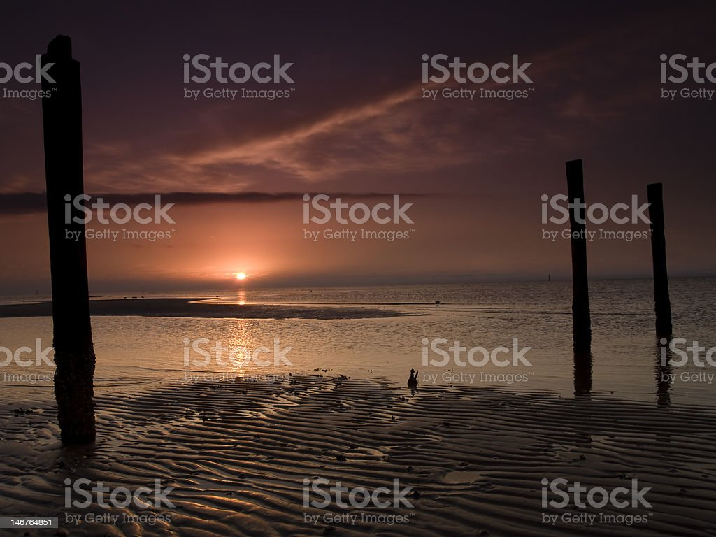 Biloxi Winter Sunrise stock photo