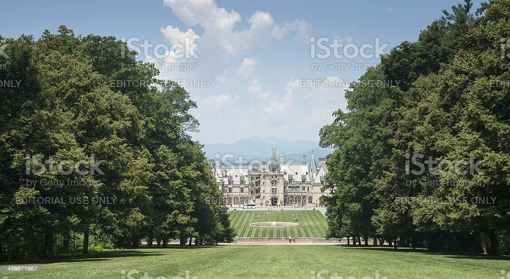 Biltmore House From Top of the Vista stock photo