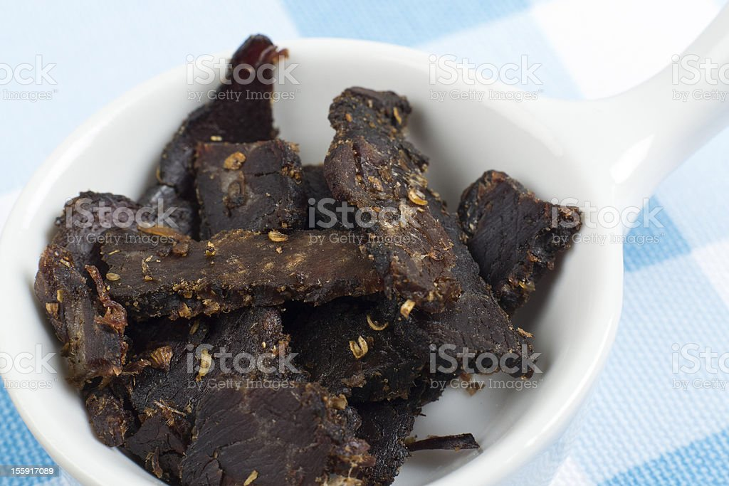 Biltong royalty-free stock photo