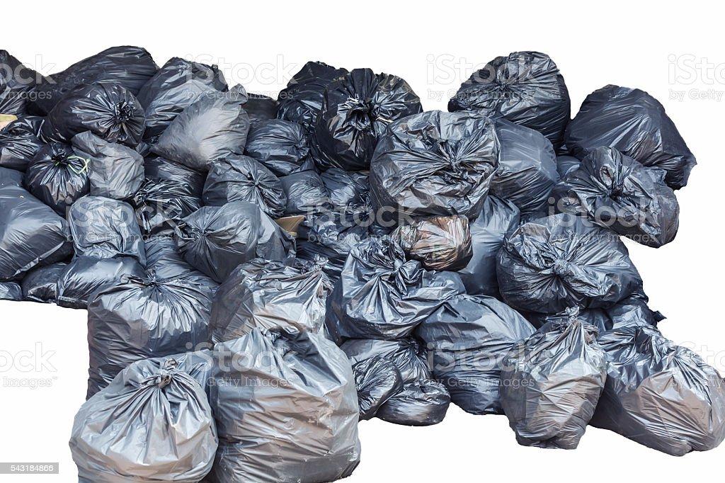 bin bag garbage isolated on background white stock photo