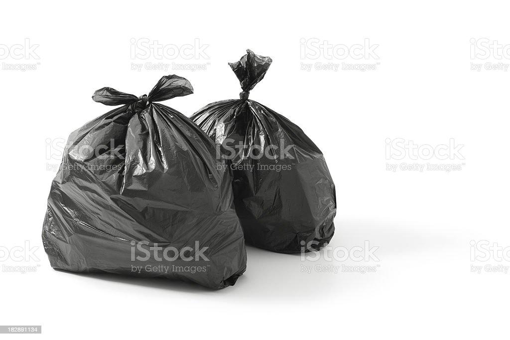 bin bags stock photo