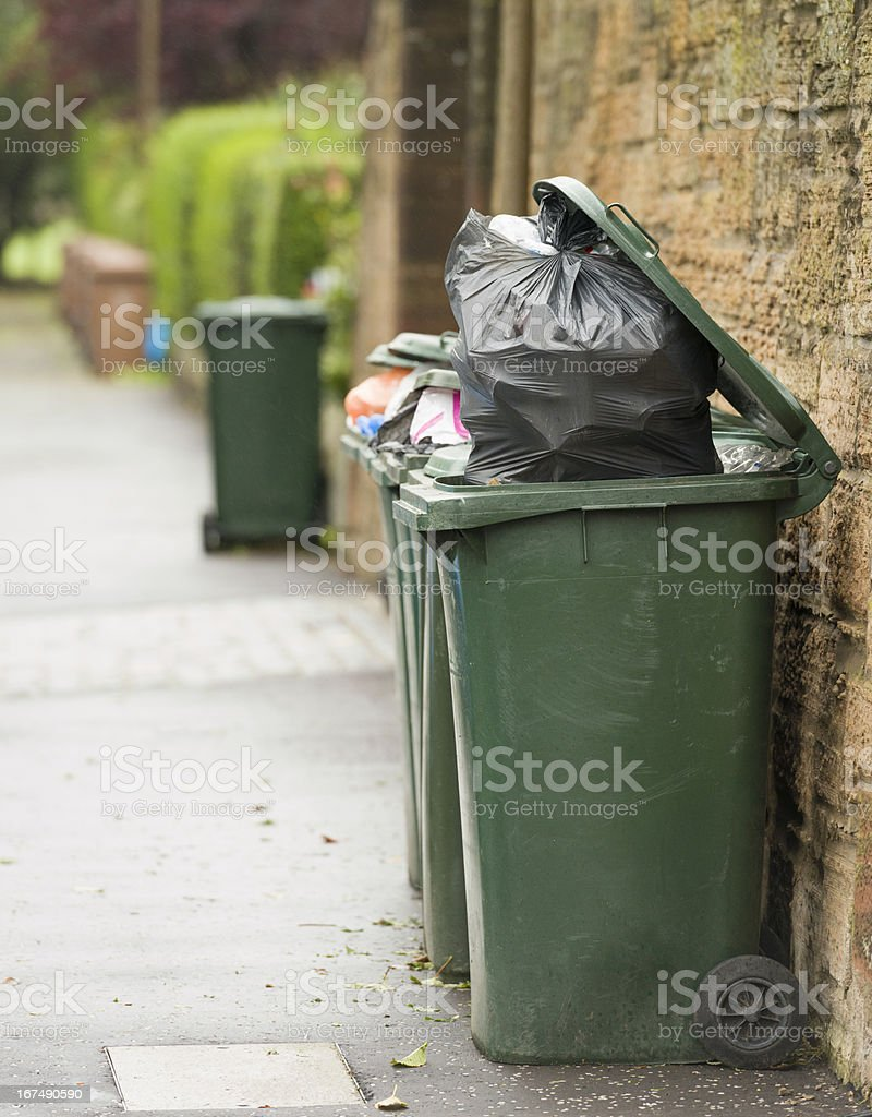 Bin Collection Day royalty-free stock photo