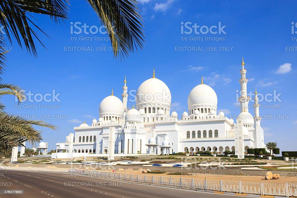Bin Zayed Grand Mosque Abu Dhabi stock photo