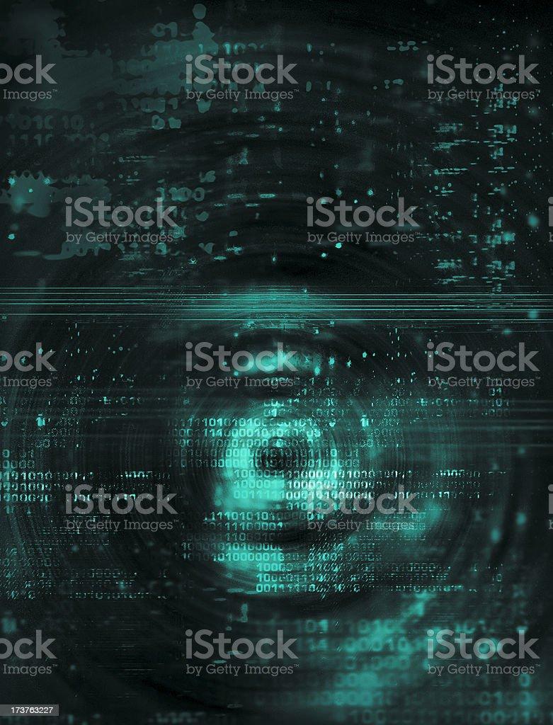 Binary Chaos 1 royalty-free stock photo