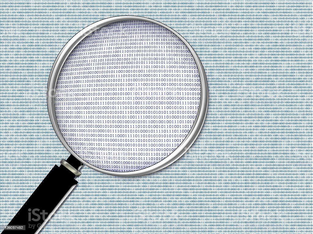 Binary Closeup stock photo