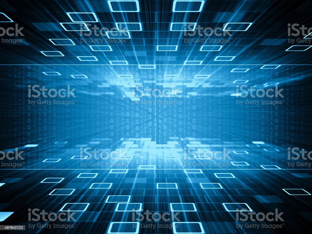 Binary code abstract background stock photo