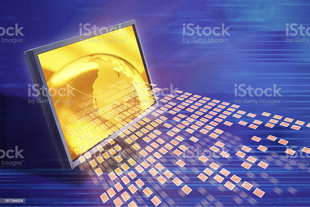 Binary Code Abstract royalty-free stock photo