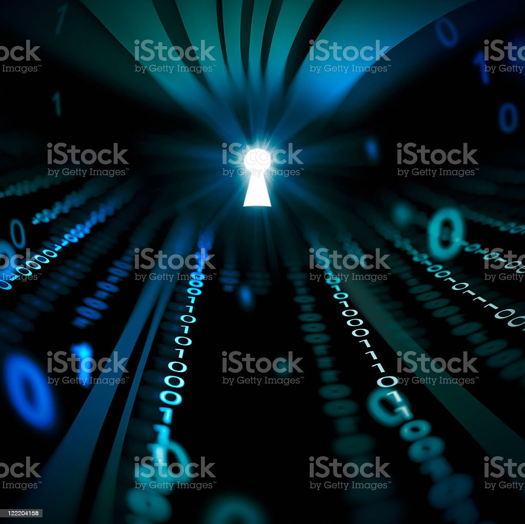 binary code abstract tunnel royalty-free stock photo