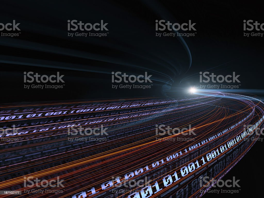 binary code background - information concept stock photo