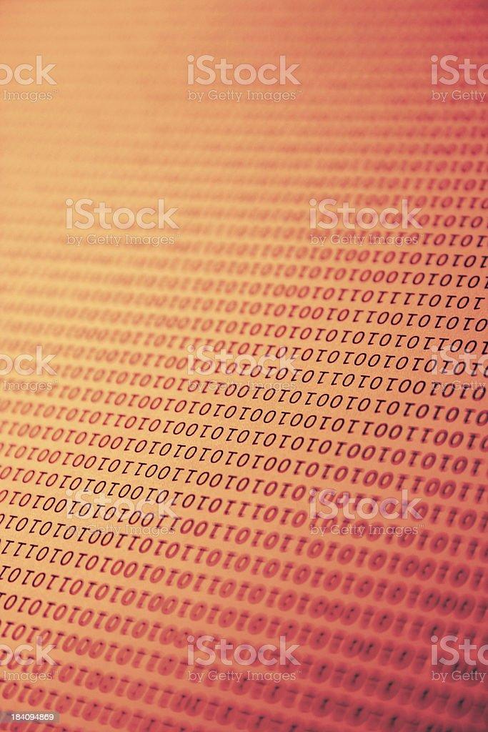 Binary Code Background royalty-free stock photo