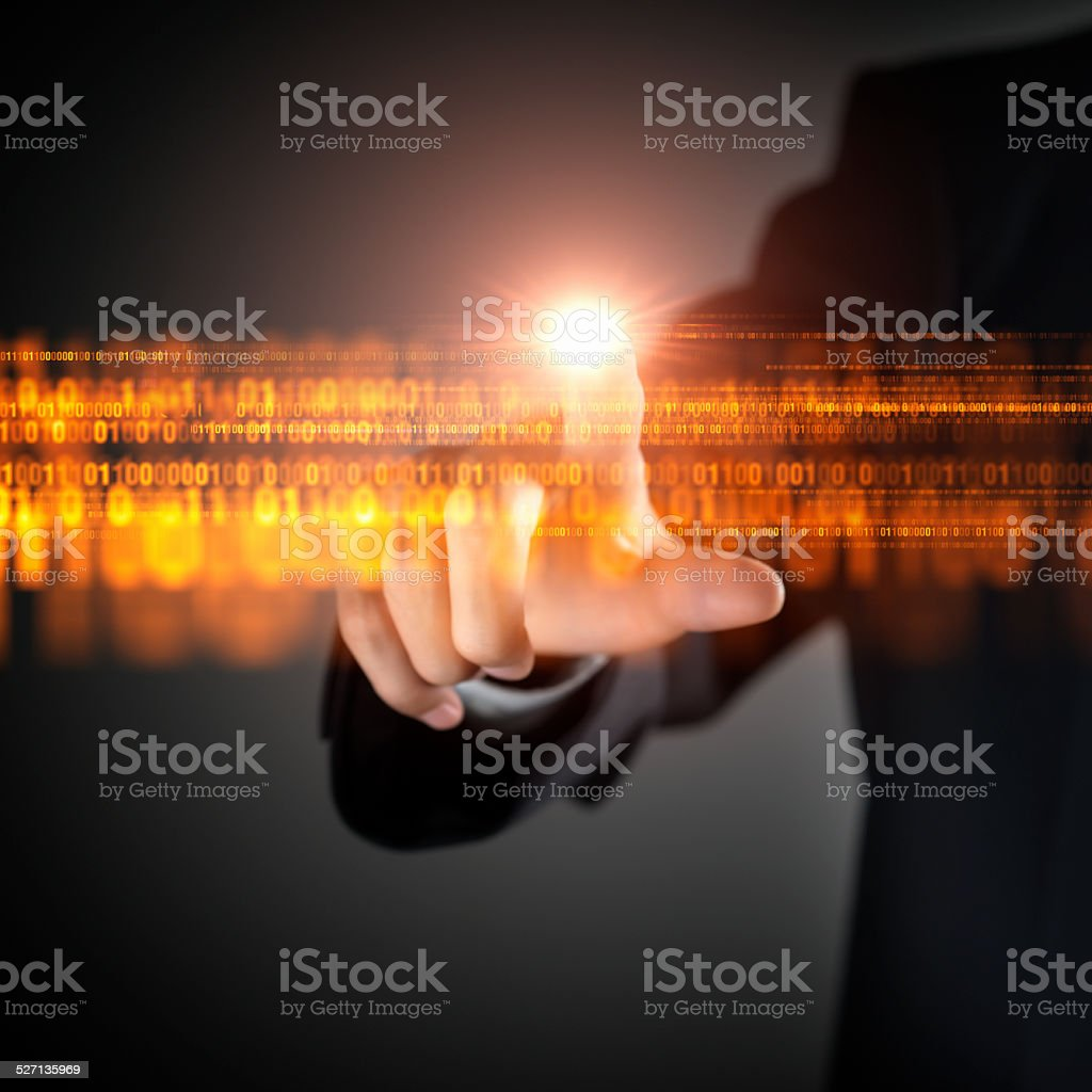 Binary Code Flow stock photo