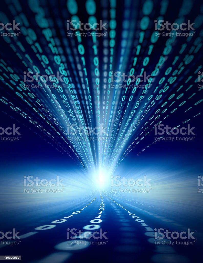 binary code impact stock photo