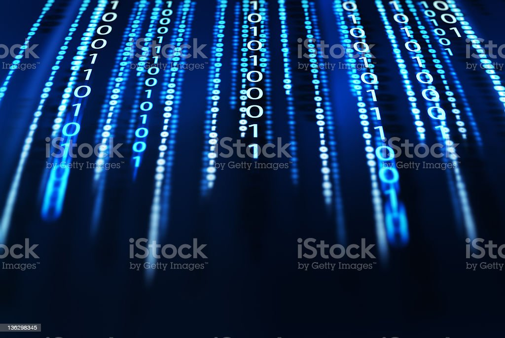 binary code moving fast royalty-free stock photo