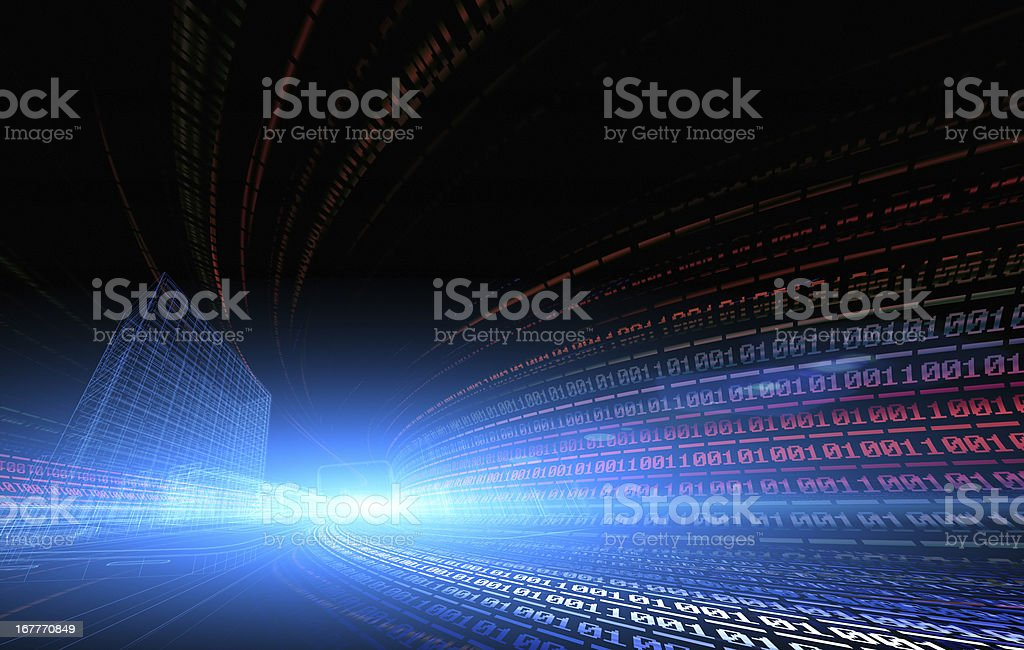 binary code royalty-free stock vector art