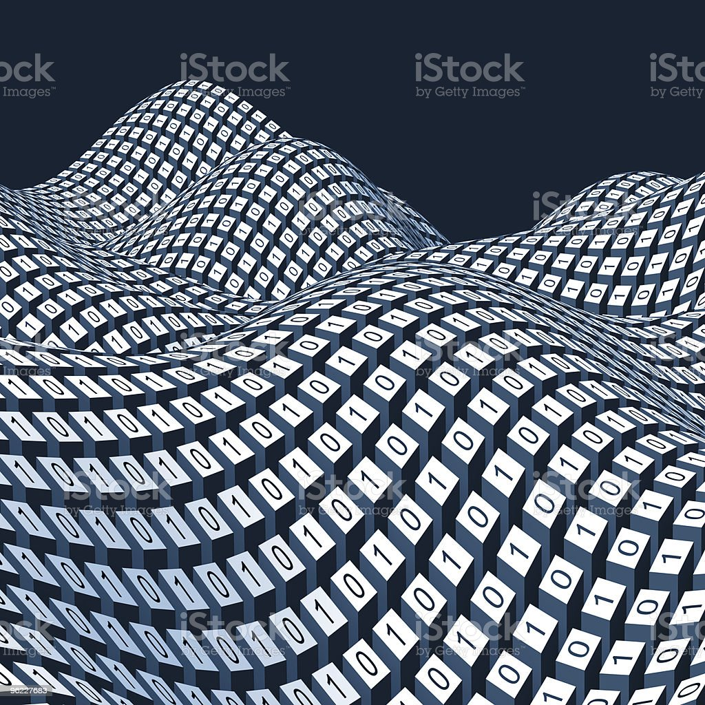 Binary code (on blue background) royalty-free stock photo