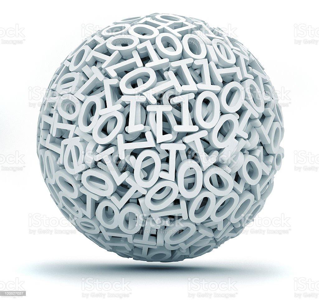 Binary code sphere royalty-free stock photo