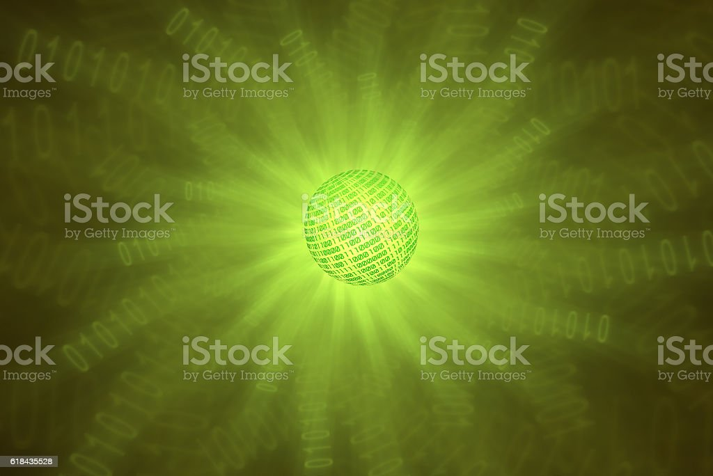 binary concept of science and technology stock photo
