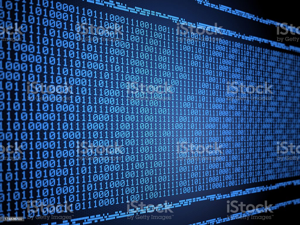 Binary data code royalty-free stock photo