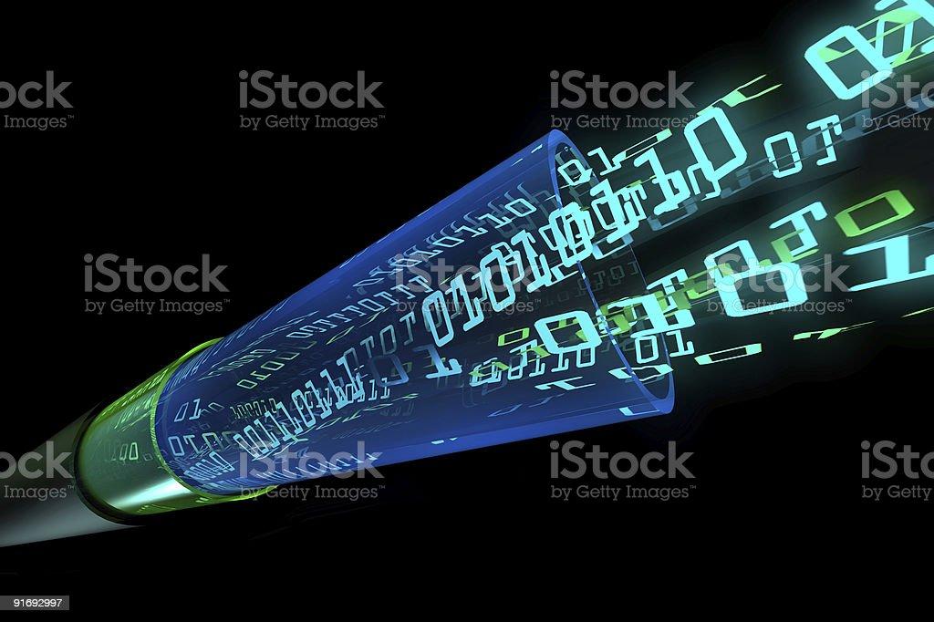 Binary data flow stock photo