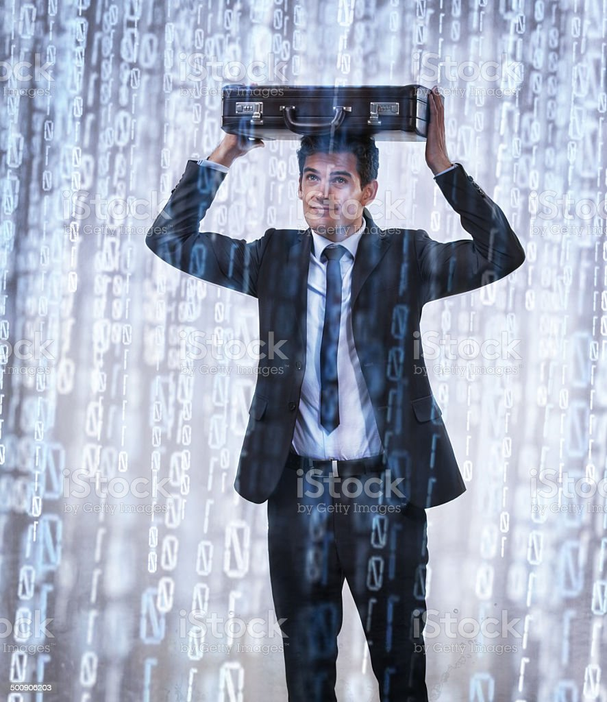 Binary downpour stock photo