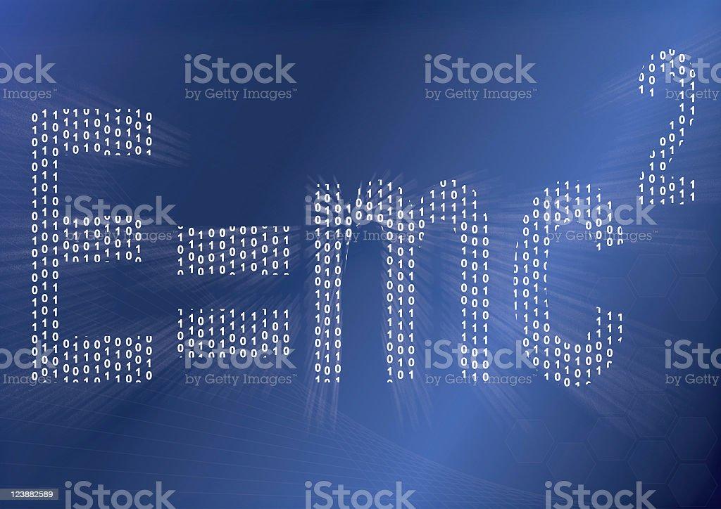 Binary Einstein formula royalty-free stock photo