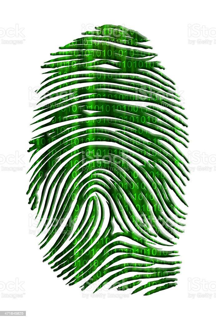 Binary finger print royalty-free stock photo