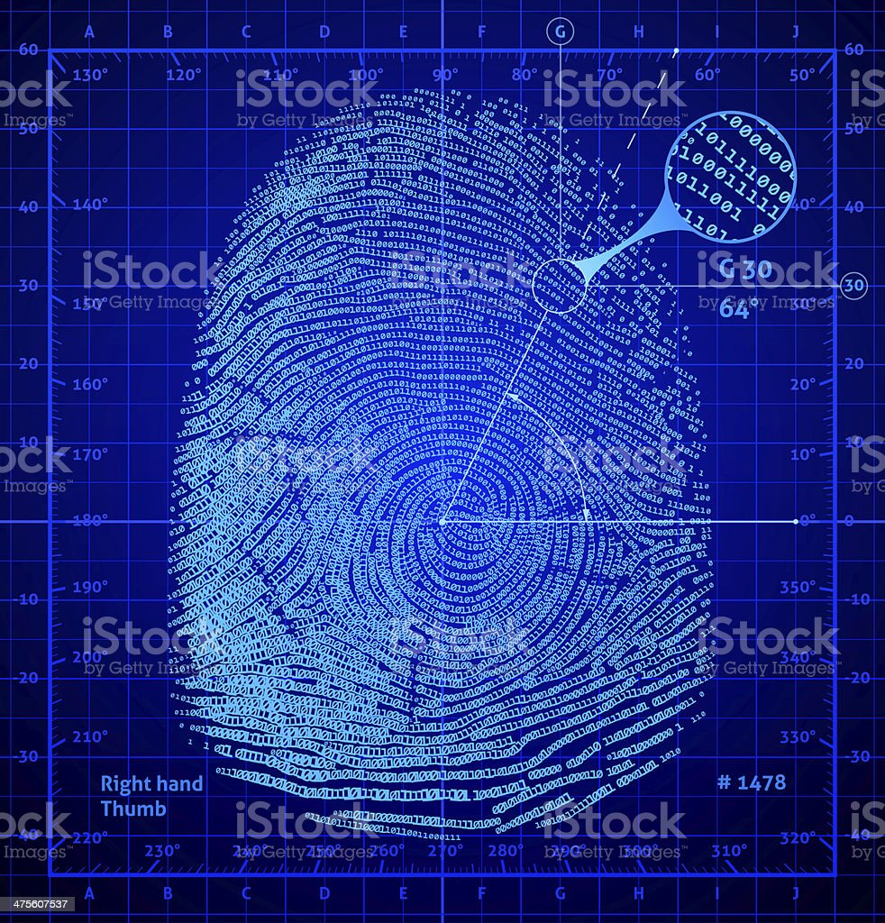 Binary fingerprint stock photo