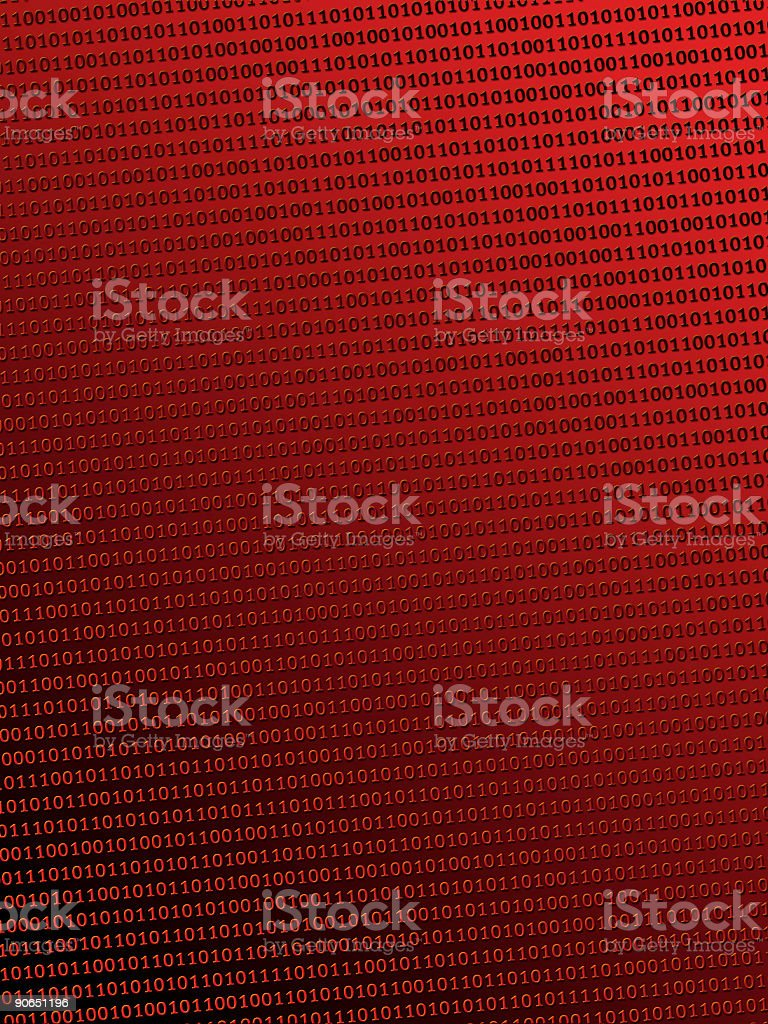 Binary in Red 010101 stock photo