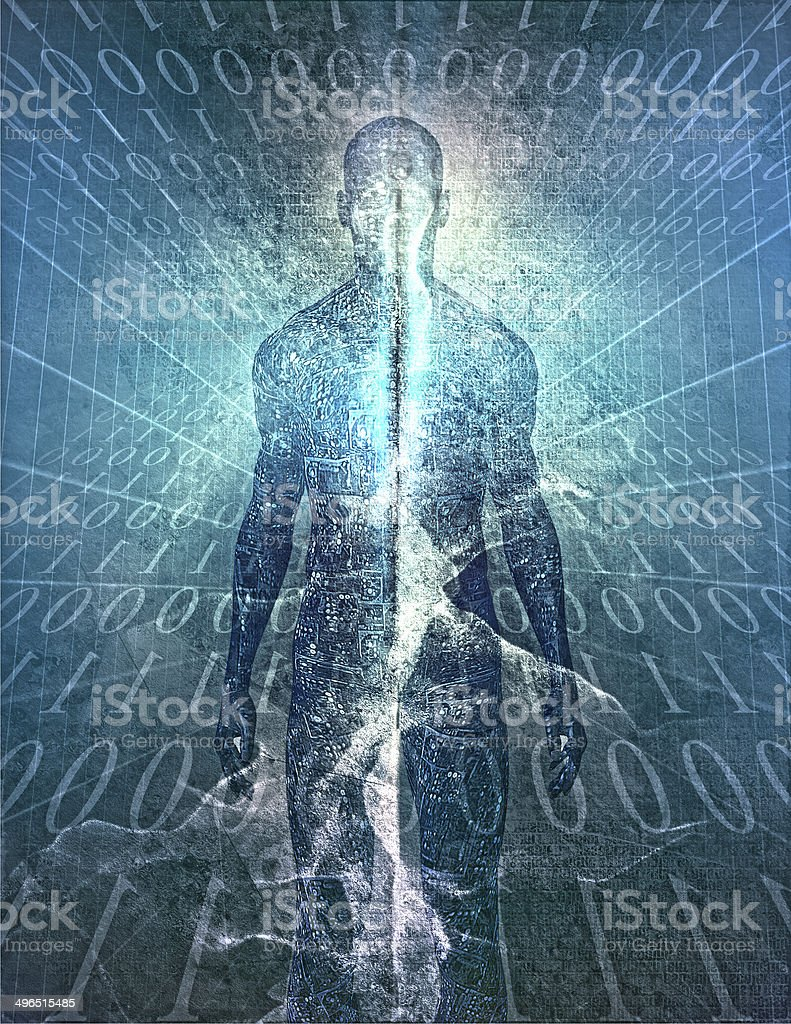 Binary Man stock photo