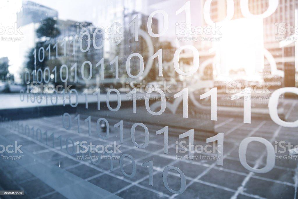 Binary number technology Internet computer background, informati stock photo