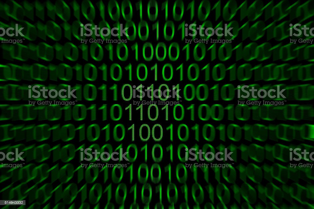 Binary Numbers stock photo