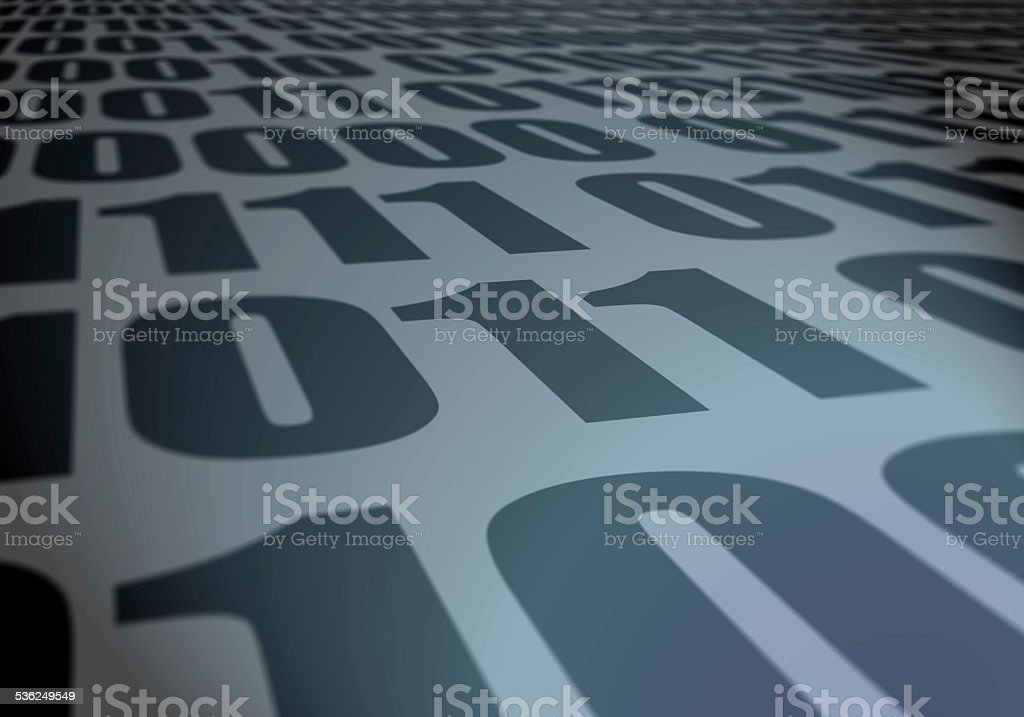 Binary perspective stock photo